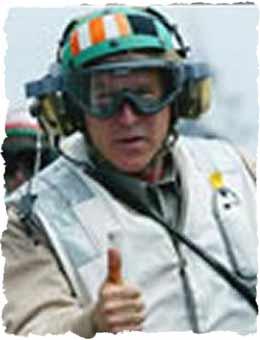 Bush in flight suit