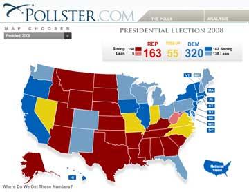 Electoral Map, 10/07/2008