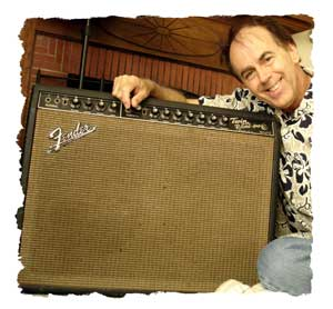 Jones with his Twin Reverb