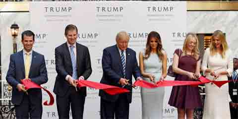 Trump Famil Ribbon Cutting