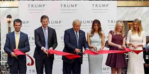 Trump Famil Ribbon Cutting