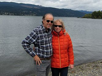 Larry and Barb at The Columbia River (taken by a friendly Oregonian).