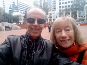 Double selfie at Pioneer Square.